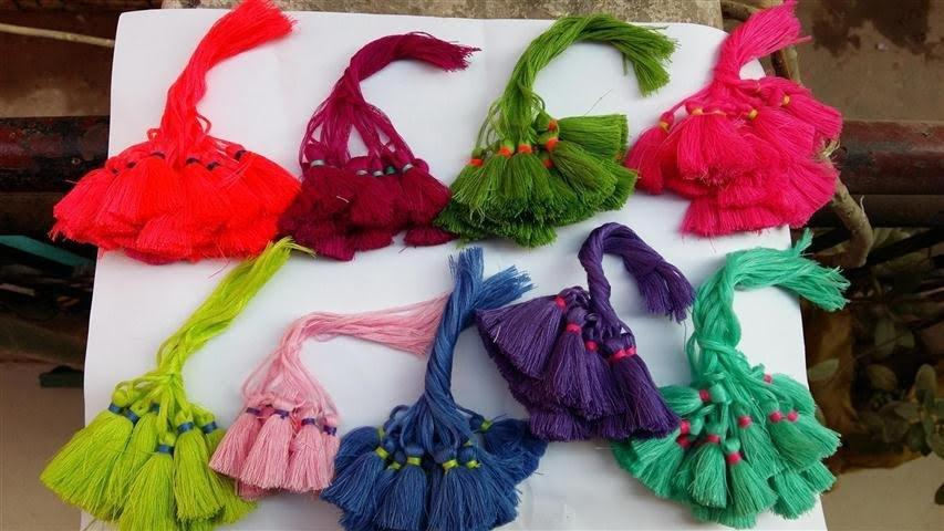 Multi Color Small Tassels